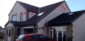 Home CCTV installation with 6 cameras