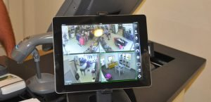 Remote viewing CCTV on tablet ipad