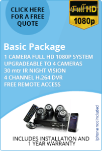 Basic CCTV package 1 HD camera for home