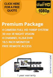 Premium CCTV package for business 4 HD cameras