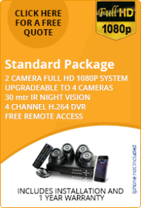 2 camera HD 1080p standard home CCTV package