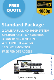 standard business cctv system free quote